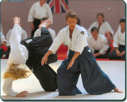 Barbara Moss Sensei demonstrates a technique at BAB 2006