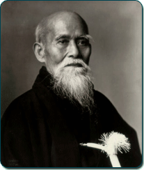 Õsensei Morihei Ueshiba, the founder of Aikido.